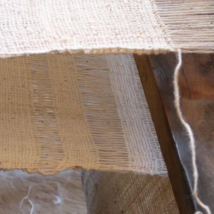 Khadi cotton on the loom