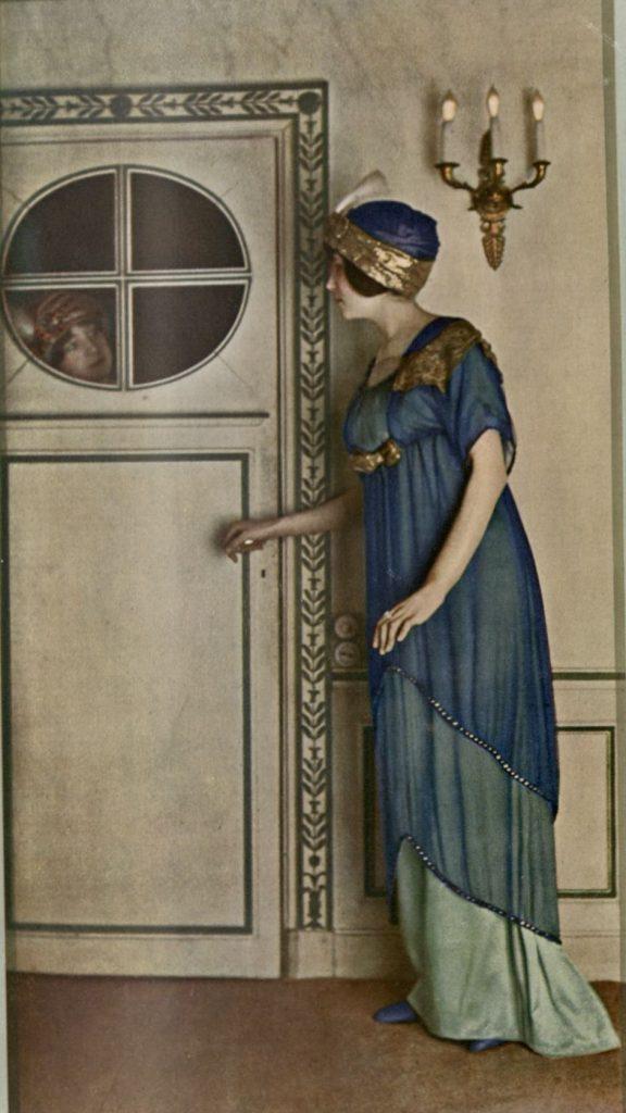 Paul Poiret's Blue gown Art et Decoration NAL PP.45.A ©Victoria and Albert Museum