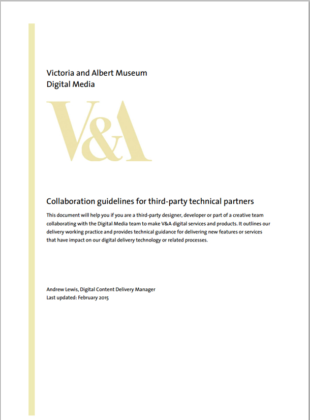 Technical collaboration guidance document cover