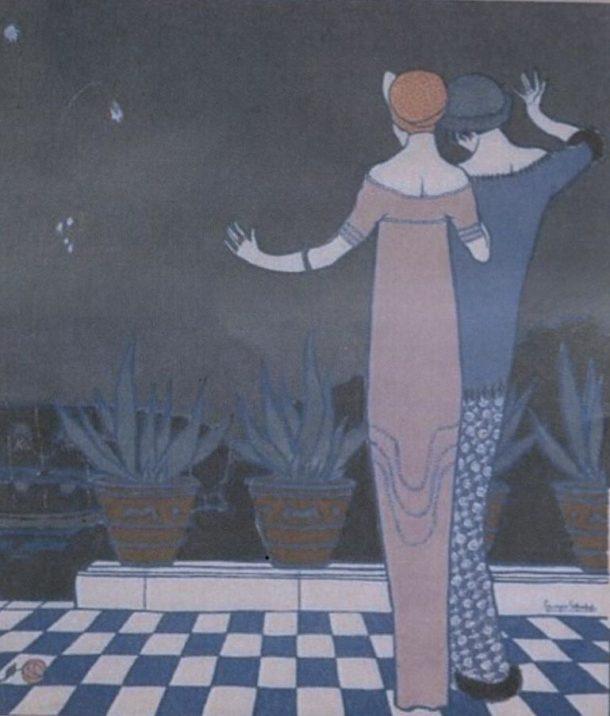 Artwork by Georges Lepape from Les Choses de Paul Poiret MAL 38041800855421