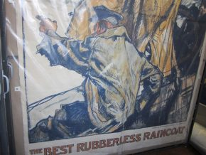 Lower half of E.2591-1931, a gigantic advertising poster for 'Zambrene' raincoats © Victoria and Albert Museum, London