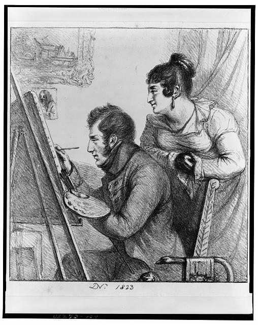 Self-portrait by French engraver, writer, art historian and administrator Vivant Denon, published 1823.  Library of Congress Prints and Photographs Division Washington, D.C.