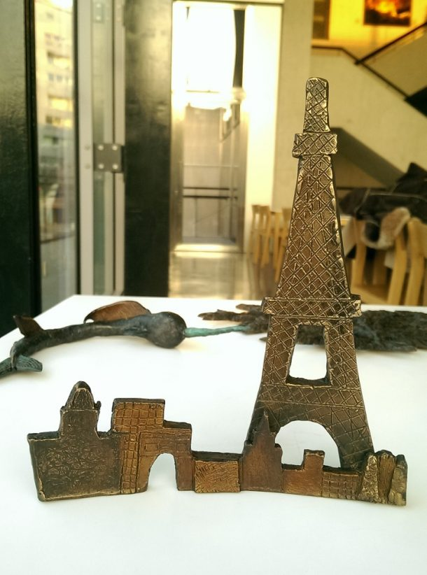 Melissa's Paris skyline. Photograph by Becky Whitmore