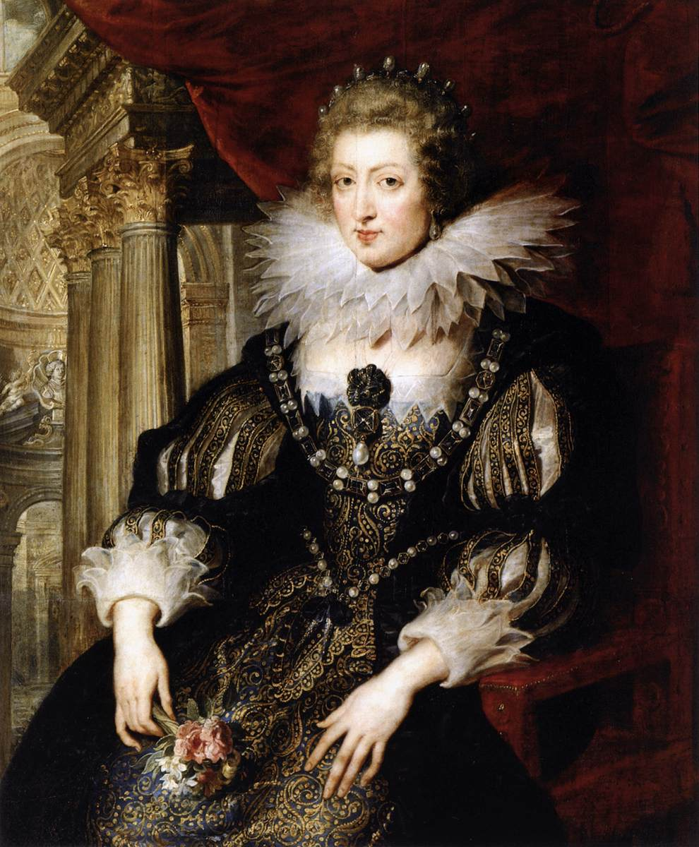 Portrait of Anne of Austria (1601–66), Queen of France, oil on panel, workshop of Peter Paul Rubens, ca.1621–25 © Louvre Museum, Paris