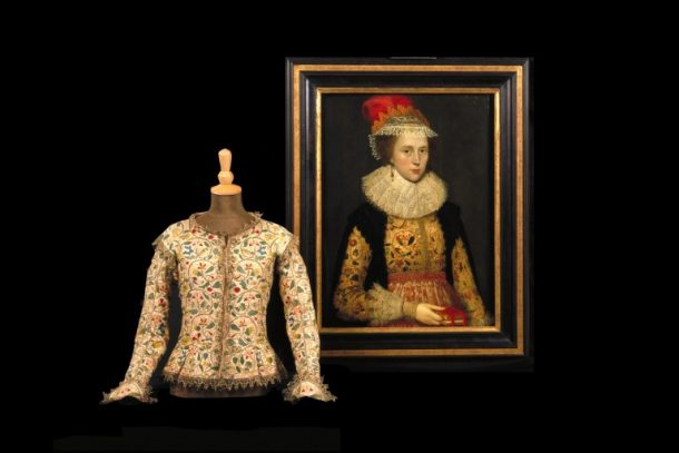 Portrait of Margaret Layton, anon, ca.1610, with embroidered jacket, 1610–20 © Victoria and Albert Museum, London