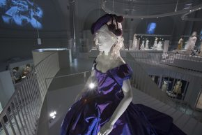 Vivienne Westwood gown and Stephen Jones hat worn by Dita Von Teese  © V&A Collection