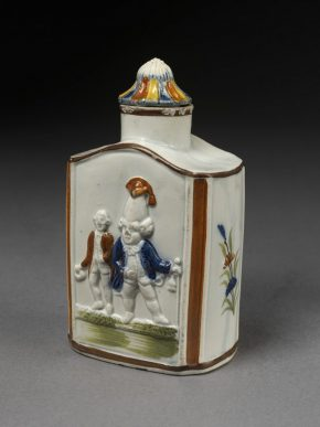 126A-1874: Earthenware tea canister, c.1790. On display in gallery 139.