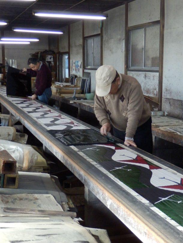 Applying colour through the fourth stencil