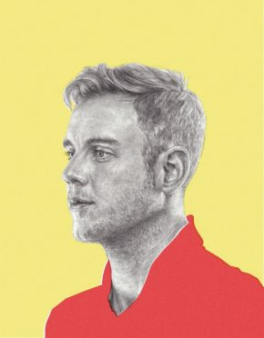 'Stuart Broad', illustrated by Jordan Andrew Carter, published in Sport Magazine, 1 March 2014.