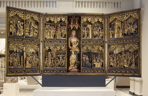 The St Margaret Altarpiece, Lüneburg, Germany, ca.1520. Museum no. 5894-1859 © Victoria and Albert Museum, London