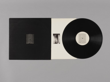 "Unknown Pleasures, debut album by Joy Division, record sleeve, printed inner and 12"" vinyl record, 1979. Museum no. E.2275-1990 © Victoria and Albert Museum, London"
