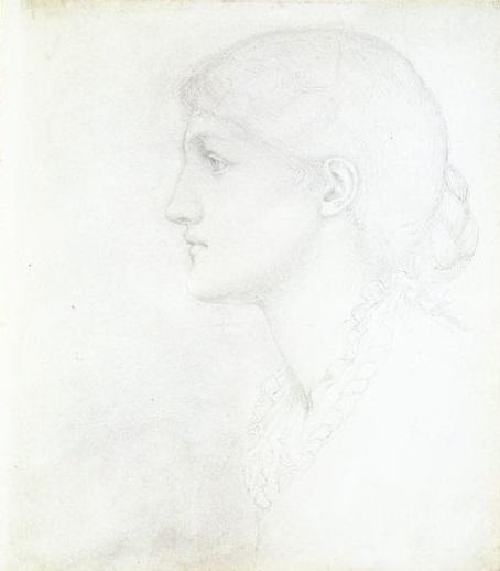 Drawing of May Morris by Edward Burne-Jones