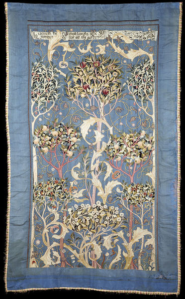 'The Orchard', wall hanging designed by May Morris and embroidered by Theodosia Middlemore