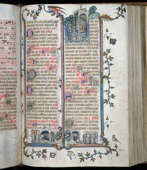 Msl/1891/1346 folio 261r, The St Denis Missal, France, ca. 1350 & 1473/1480, © V&A Museum.