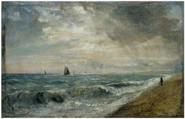Oil painting, 'Hove Beach', John Constable, ca. 1824