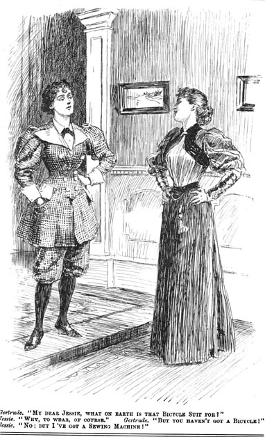 'Gertrude and Jessie', Punch magazine, 12 January 1895