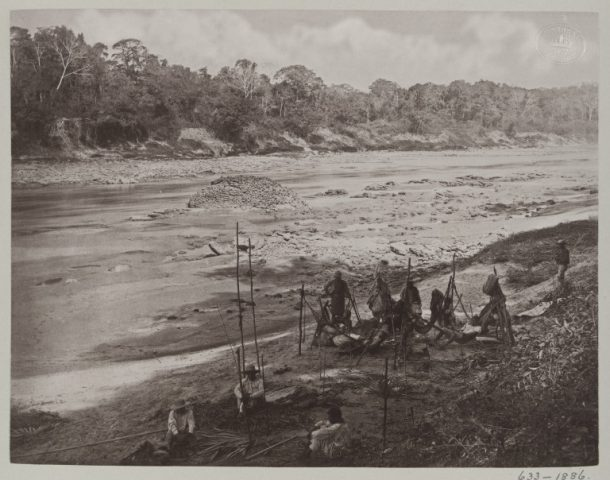 PH.633-1886 PH.633-1886  Photograph, albumen print Photograph of the Rio Usumacinta, Menché, Guatemala, taken by A.P. Maudslay