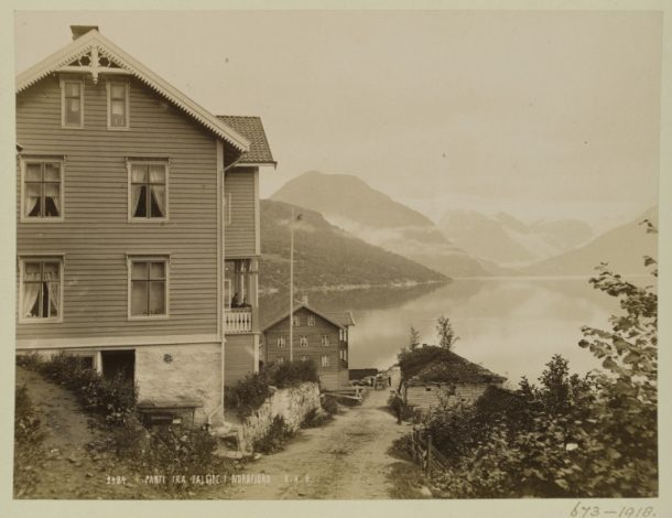V&A: 673-1918 Photograph of Nordfjord, (Norway), taken by Knud Knusden