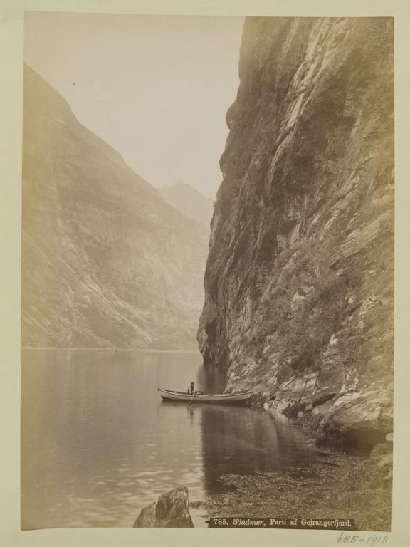 V&A: 685-1918 Photograph of a view of Gejrangerfjord, Søndmør (Norway), taken by  Axel Lindahl