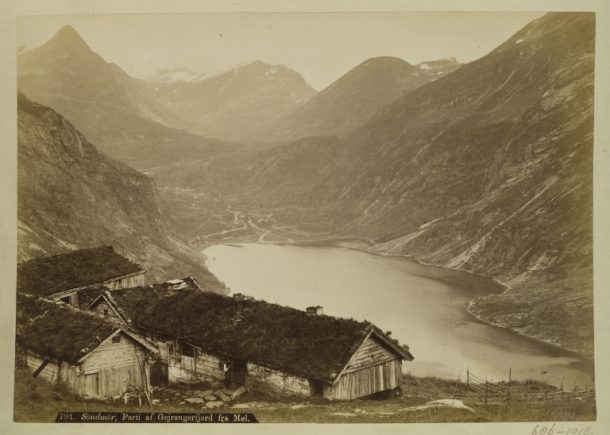 V&A: 686-1918 Photograph of Gejrangerfjord from Møl in Norway, taken by Axel Lindahl