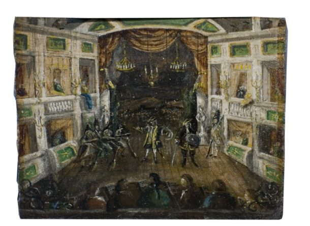 A view of Shakespeare's Macbeth on stage at Covent Garden, mid 1760s, Unknown Artist, Italy c.1570 © Victoria and Albert Museum, London