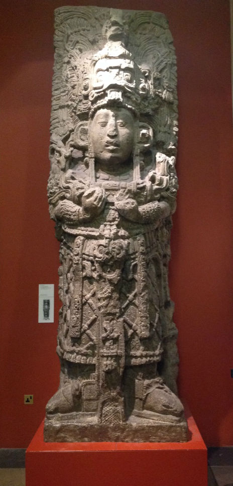 Cast of Stela H, from Copán, Honduras, made by Lorenzo Giuntini.