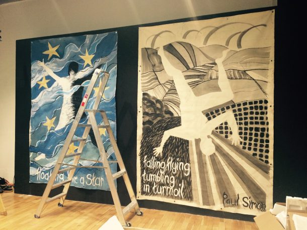 Banners by Lesley Featherstone, Areté Visual Arts