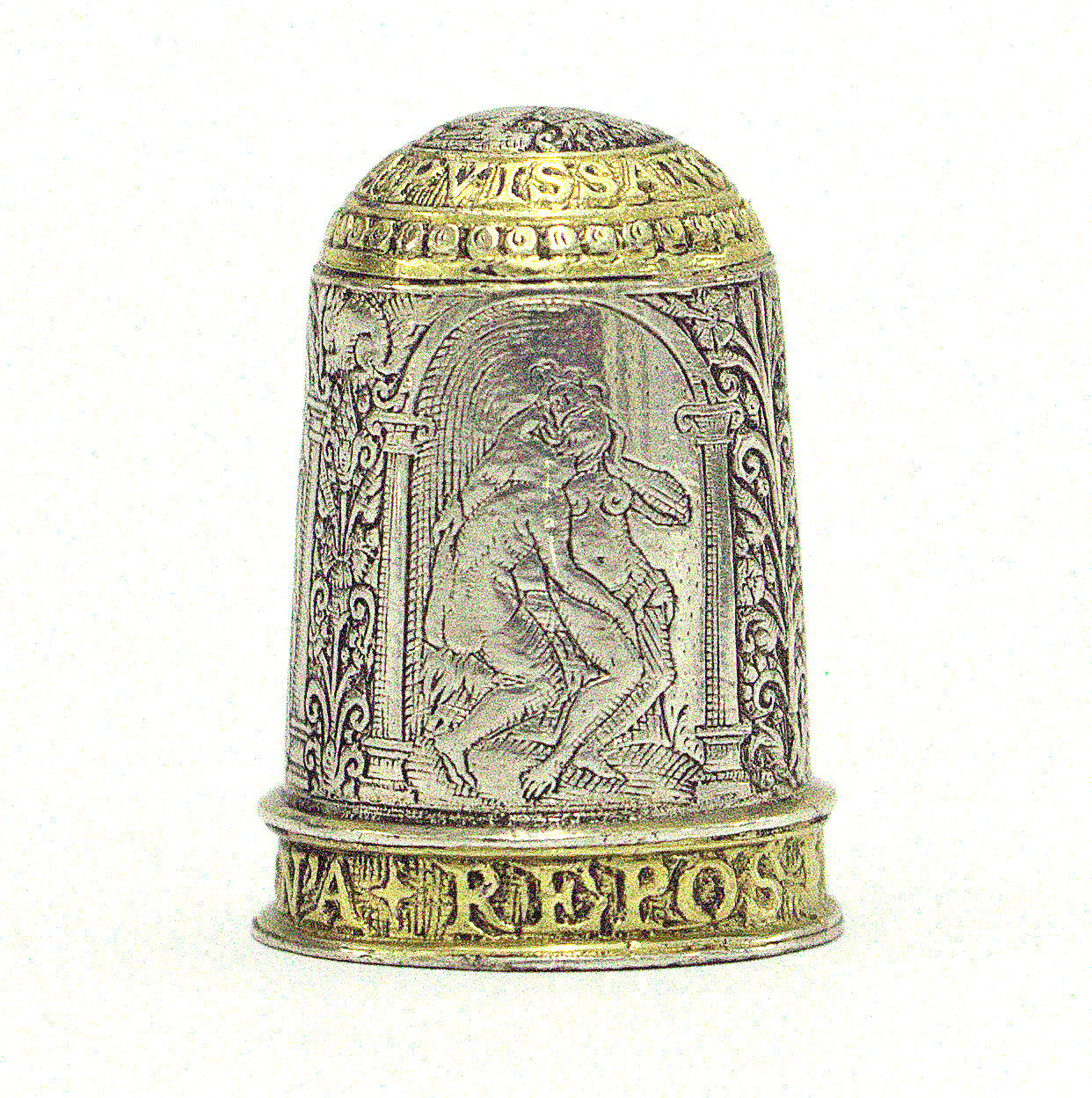 Silver thimble, English, c.1600. M.362-1940