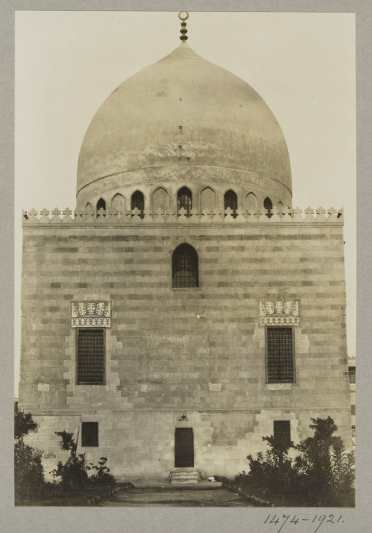 K.A.C. Creswell 1916-21 Facade of the Fadawiya Mausoleum, Cairo gelatin silver print? Museum no. 1474-1921
