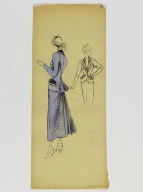 Design by Colette Massignac for the House of Paquin, Paris, 1948. E.22576-1957
