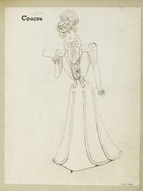 'Coucou'. Design by Jeanne Paquin, Winter 1897. E.18-1957