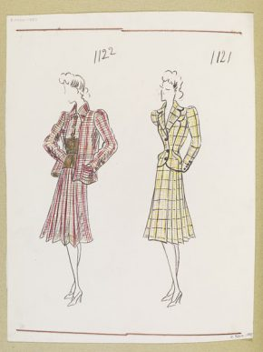 Designs by Ana de Pombo for the House of Paquin, Paris, Winter 1939-40. E.9264-1957