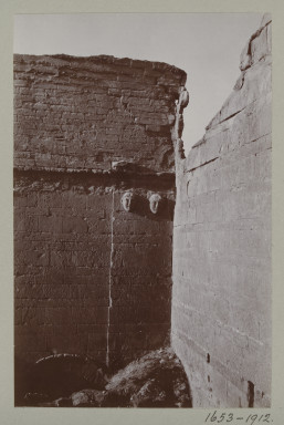 1653-1912 Photograph Photograph depicting the south wall of the north liwan at the summer palace at Hatra, Iraq. Iraq