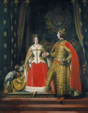 Sir Edwin Landseer (1803-73), Queen Victoria and Prince Albert at the Bal Costumé of 12 May 1842. Royal Collection Trust/© Her Majesty Queen Elizabeth II 2015
