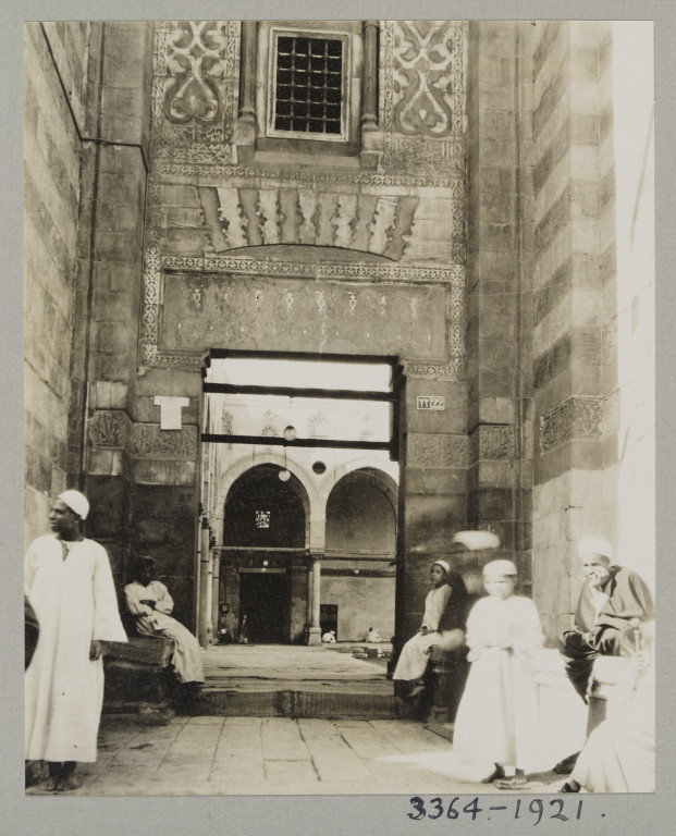 K.A.C. Creswell 1916-21 Northeast entrance of the Mosque of the Emir, Altunbugha al-Mardani, Cairo Gelatin silver print? Museum no. 3364-1921