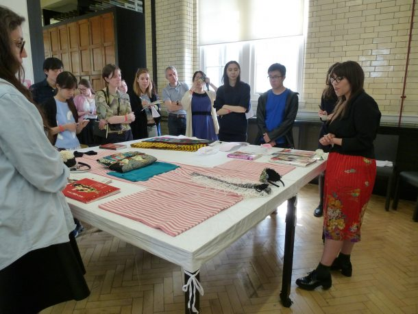 Josephine Rout, AC in Asia, talking about contemporary kimono © Victoria and Albert Museum, London