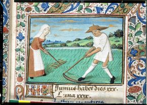 MSL/1918/475, Calendar image for June, Book of Hours (The Playfair Hours), France, ca. 1480s. © V&A Museum.