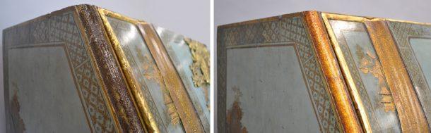 Details: before (left) and after (right) ©Tristram Bainbridge