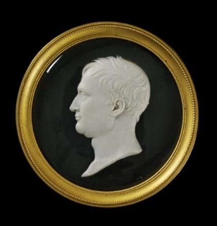 Portrait of Napoleon, wax on slate, Benedetto Pistrucci, 1815. V&A A.3-1940