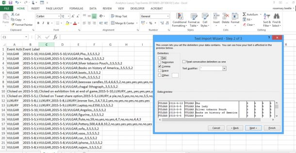 opening a csv file