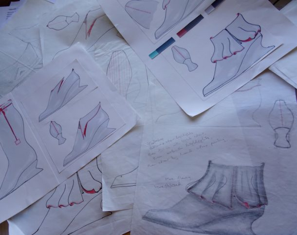 Design drawings shoes