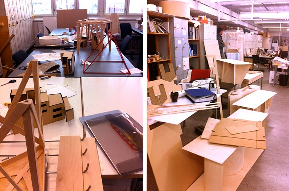 Work in Progress in the architect studios at Aalto University's School of Art & Design. Image © Alicia Farrow, 2015