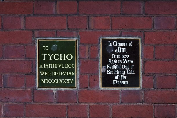 Commemorative plaques for Jim and Tycho