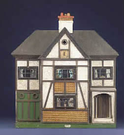Her first ever dolls' house was given her by her mother when she was a child. Faith Eaton's first doll house.  (c) Faith Eaton/V&A Museum, London
