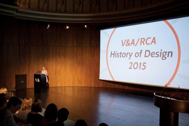 V&A/RCA History of Design Symposium, 2015. Photo: Sophie Declerk, 2015