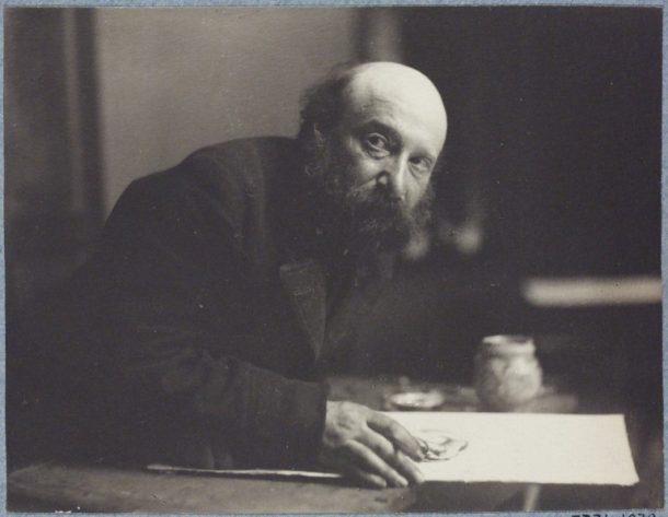 Portrait of Simeon Solomon, aged 56. Platinum print, Frederick Hollyer, 1896-97. V&A P.7731-1938