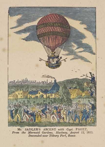 Coloured woodcut by an unknown artist, c. 1811. Museum no. E.4766-1923