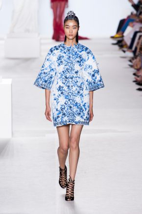 Giambattista-Valli-Couture-Fall-2013-blue-floral-jacket-dress
