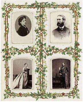 Page From A Photograph Album Showing Four Carte De Visites