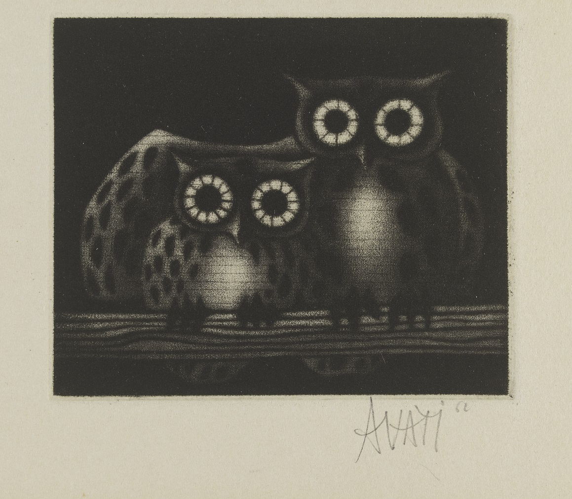Mezzotint by Mario Avati, France, c. 1965. Museum no. E. 221-1994. ©Mario Avati/Victoria and Albert Museum.